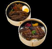 特選すき焼きと焼肉の二段弁当【匠】