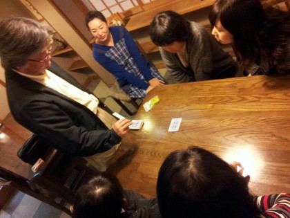 引いたカードを予言するマジックです\(^o^)/