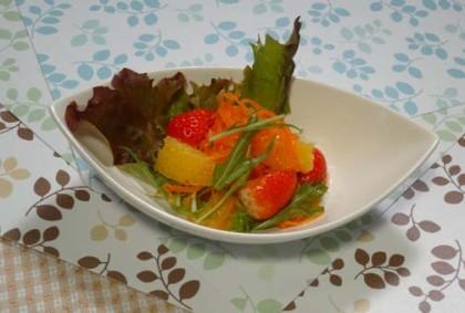 苺とにんじんのサラダ