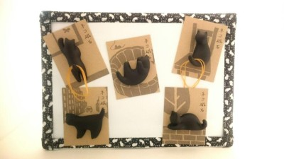 16黒猫ネコ磁石オール