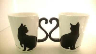 16黒猫ハートマグ雄雌