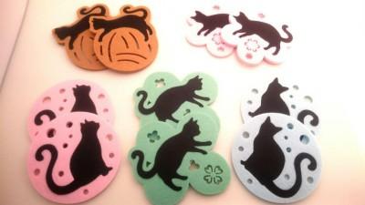 16黒猫コースターオール