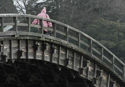 広島錦帯橋横からアップ