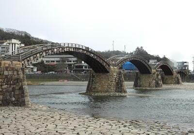 広島錦帯橋横から遠景