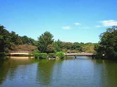 170921名城ラン名城公園庭園池