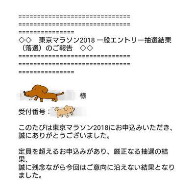 17東京マラソン抽選結果内容
