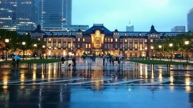 190501東京駅令和初日夜景全景