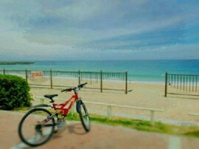 海ビーチ自転車