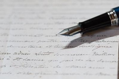 万年筆手紙
