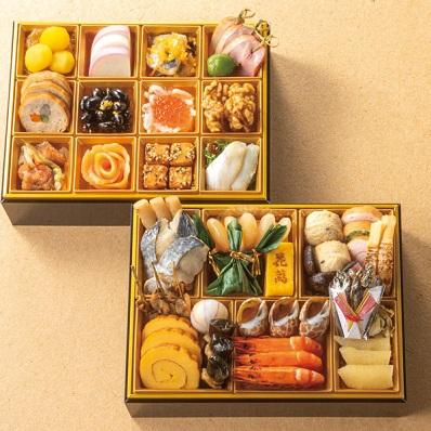 20東西料亭の饗宴おせち 「新花神」 二段重11880