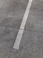 【薄くなった白線】