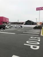 【広々した駐車場】